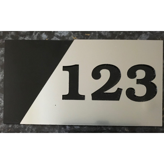 Custom Street Number Personalised Address House Plaque