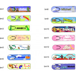 Personalised KIDS Metal Book Mark Choose Your Design