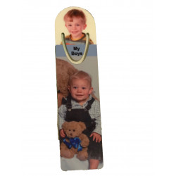 Personalised Photo Metal Book Mark - Add your own photos