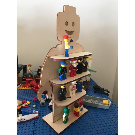 Mini Figure Brickman Toy Lego Shelf Custom Cut and Personalised