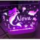 Personalised Night Light Mermaid Name LED USB Decor Light