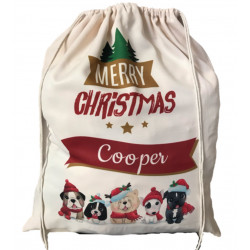 Personalised Santa Sack - Christmas Puppies 31