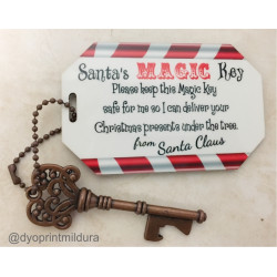Santa Magic Key - Can be Personalised