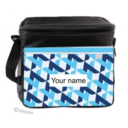 Personalised Insulated Cooler Bag - SK3 Blue Pattern
