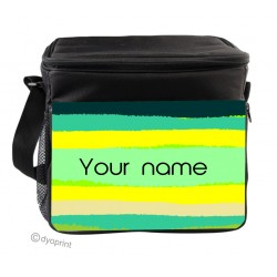 Personalised Insulated Cooler Bag - SK5 Green Stripes