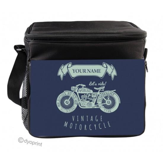 Personalised Insulated Cooler Bag - SK7 Vintage Motorbike