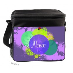 Personalised Insulated Cooler Bag - SK9 Floral Dot