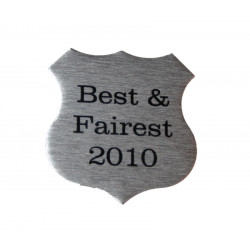 Personalised 4cm x 3.8cm Self Adhesive SHIELD PLAQUE NAME PLATE