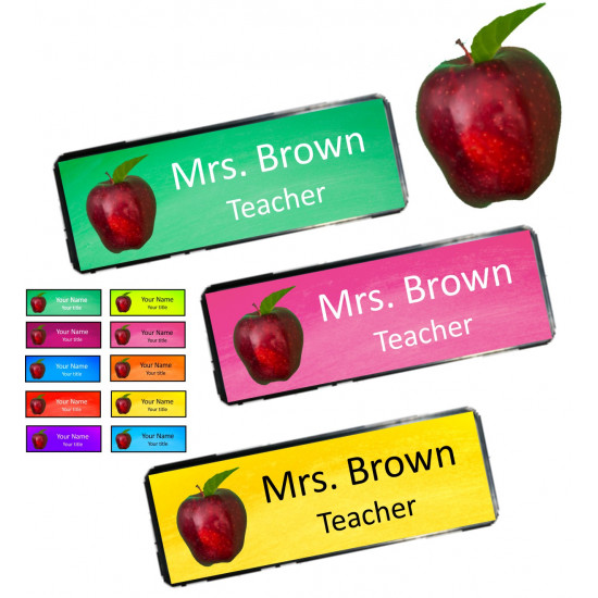 Personalised Teacher Apple Name Badge