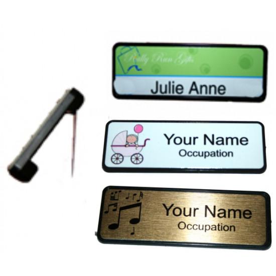 Name Badge 6.4cm x 1.9cm PIN BACK