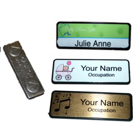 Name Badge 6.4cm x 1.9cm Magnet back