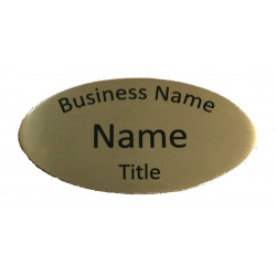 Personalised OVAL NAME BADGE 6.6x3.5cm WORK BADGES