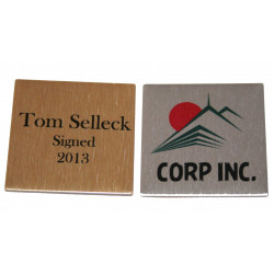 Printed NAME PLATE 3.2cm x 3.2cm square