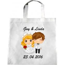 Personalised Wedding Enviro Tote Bag - Child Bride Design U