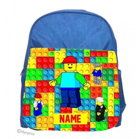 Personalised Kids Back Pack Bag - KBP1 Blocks