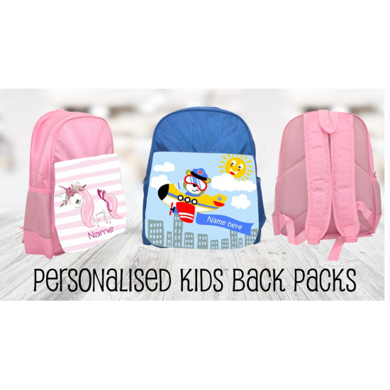 Personalised Kids Back Pack Bag - KBP11 Spring