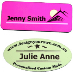 Personalised MDF Wooden Name Badge