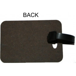 Personalised MDF Luggage Bag Tag - Block Design