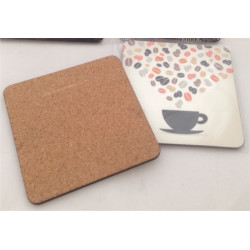 Personalised Wooden Coasters with cork back Set of 4