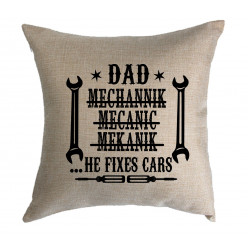 Personalised Cushion - Dad fixes cars