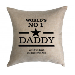 Personalised Cushion - Worlds No1