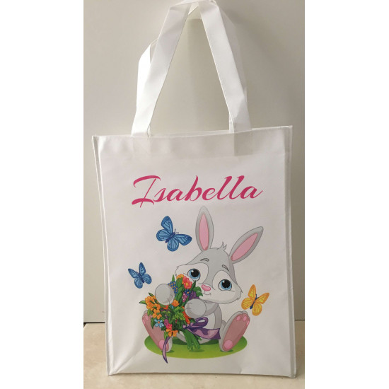 Personalised Enviro Tote Bag - e9 Basket Bunny