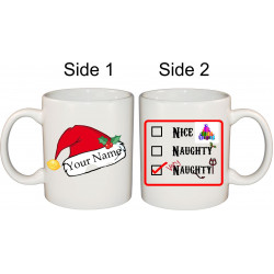 Ceramic Mug - Naughty Christmas Hat