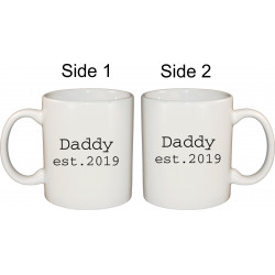 Ceramic Mug - Daddy Est your year