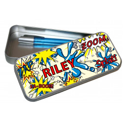 Personalised Pencil Case Tin - Kapow PT14