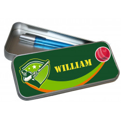 Personalised Pencil Case Tin - Cricket PT15