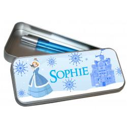 Personalised Pencil Case Tin - Frozen Princess PT4