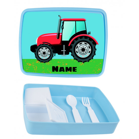 Personalised Plastic Lunch Box PLB13 Tractor