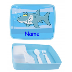 Personalised Plastic Lunch Box PLB19 Shark