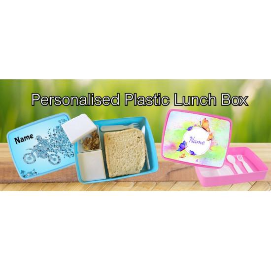 Personalised Plastic Lunch Box PLB2 Flamingo