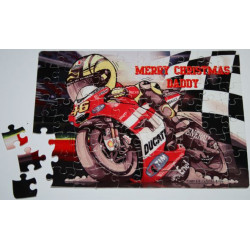80 piece PERSONALISED Jigsaw Puzzle add PHOTO text A5