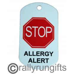 PERSONALISED Allergy Tag Keyring Tag