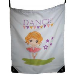 PERSONALISED Drawstring Bag - Library swim dance daycare bag