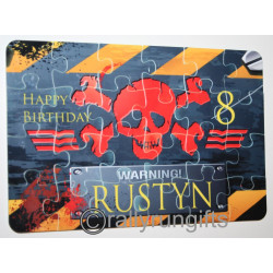24 piece PERSONALISED Jigsaw Puzzle PLASTIC