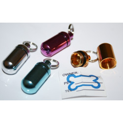 Aluminium PET ID TUBE DOG CAT Address Name TAG Luggage