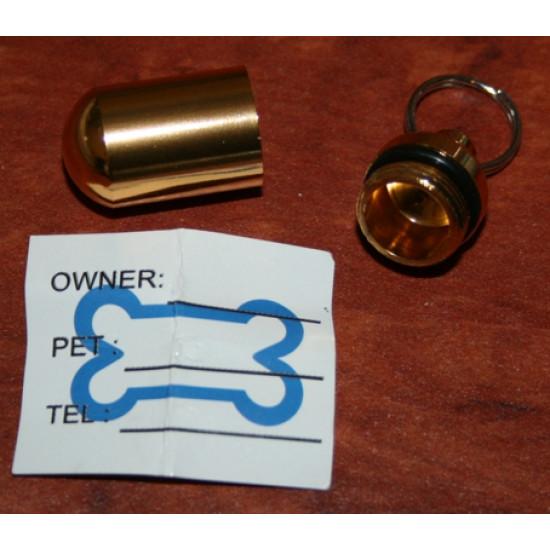 Aluminium PET ID TUBE DOG CAT Address Name TAG Luggage