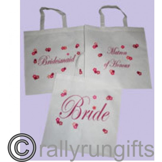 PERSONALISED White Wedding Tote bags