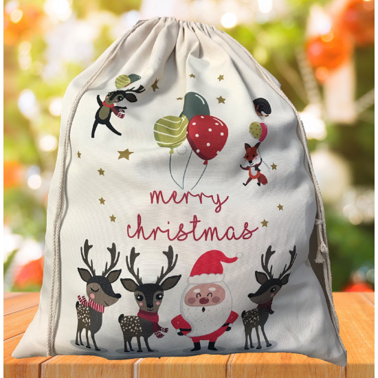 Personalised Santa Sack - Balloon Santa 25