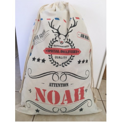 Personalised Santa Sack - Red Nose