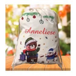 Personalised Santa Sack - Teddy Christmas 30