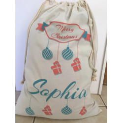 Personalised Santa Sack - Baubles