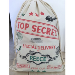 Personalised Santa Sack - Top Secret