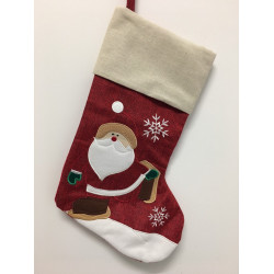 Personalised Christmas Stocking - Santa iceskate Design C