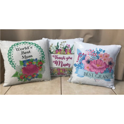 Personalised Magic Sequin Cushion - mothers day designs