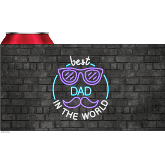 Personalised stubby holder coolers Best dad in the world STUB129