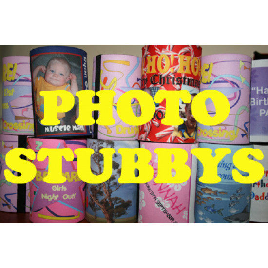 25 x Personalised stubby holder can coolers - FREE POST